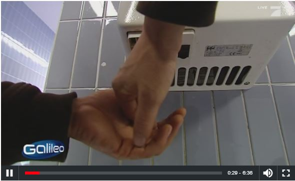 Video: Galileo Investigates Electric Hand Drying