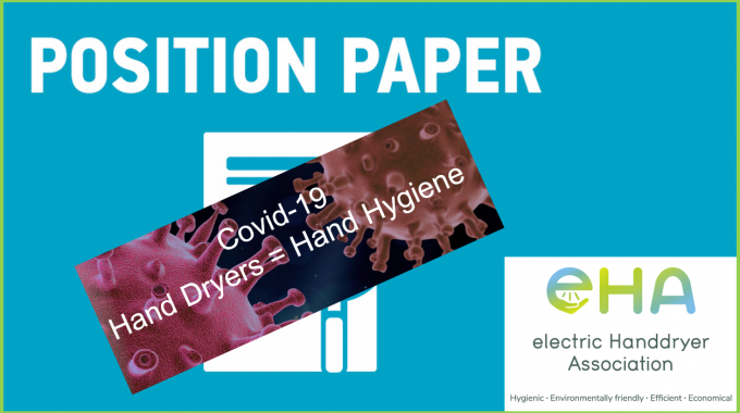 EHA PRESS RELEASE: Position Paper On Coronavirus And Electric Hand Dryers In Public Washrooms
