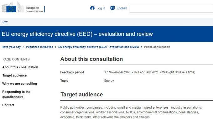 Revision Of The Energy Efficiency Directive (EED)
